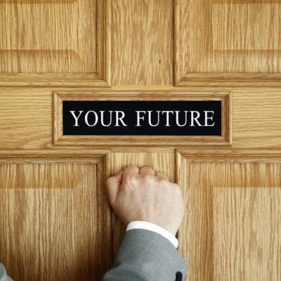 knocking on door of future