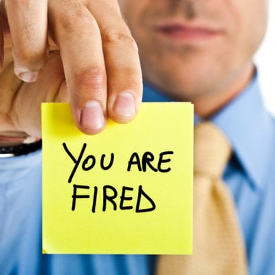 post it with you're fired