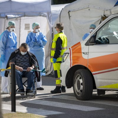 Triage tent covid pandemic