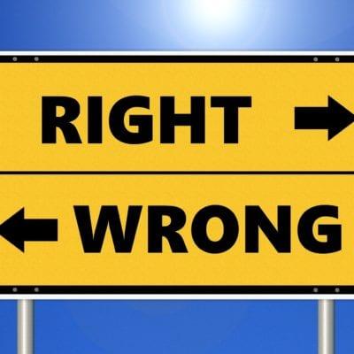 Right Way Wrong Way Sign