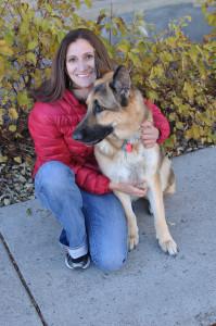 Melissa with dog