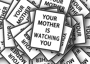 your mother is wathching you pixabay